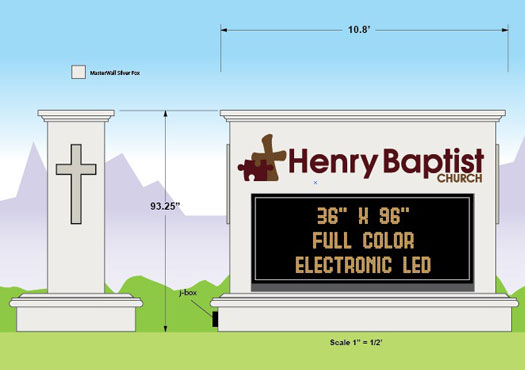 Henry Baptist Church design