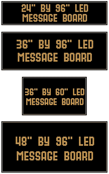 LED Message Board Panel Sizes