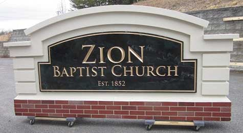 Zion Baptist Church before shipping